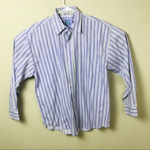 Brooklyn Express Men Dress Shirt Striped